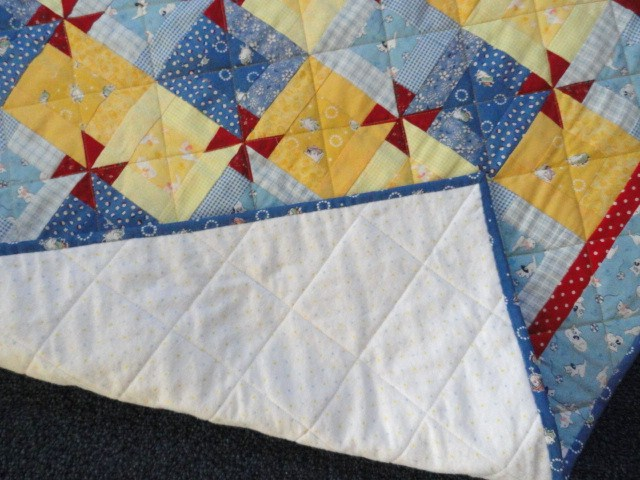 flannel back for the baby quilt