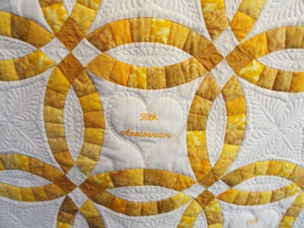 Double Wedding Ring Anniversary Quilt