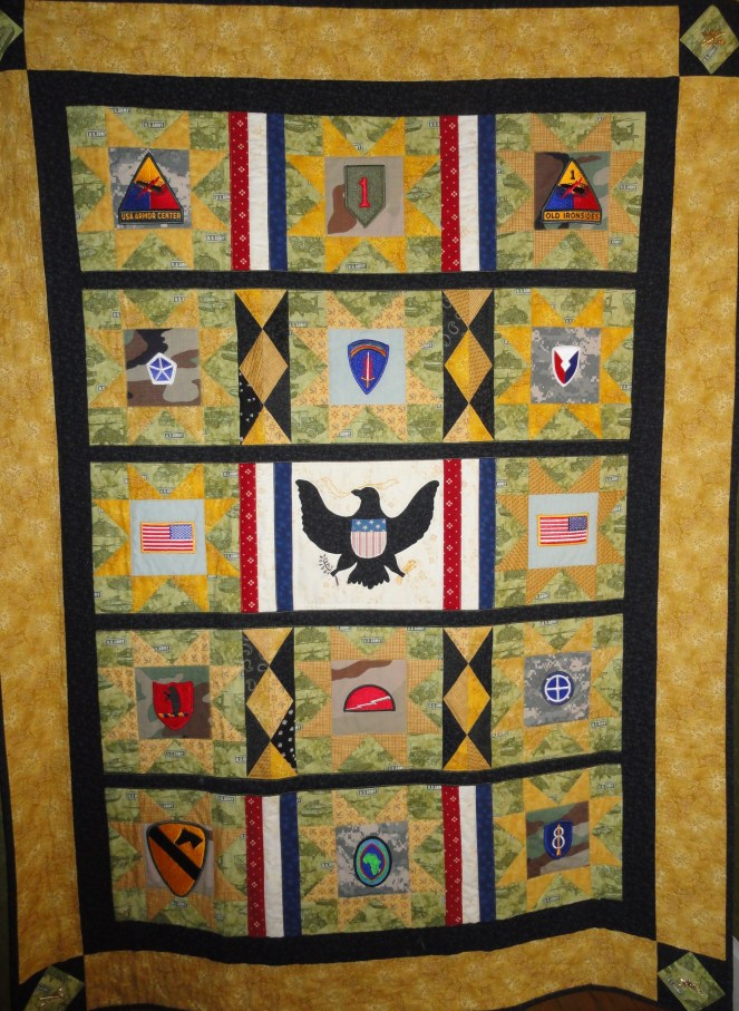 Army retirement quilt