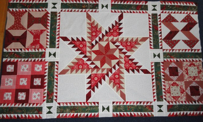 center part of quilt