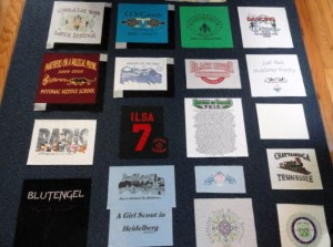 t-shirt quilt layout