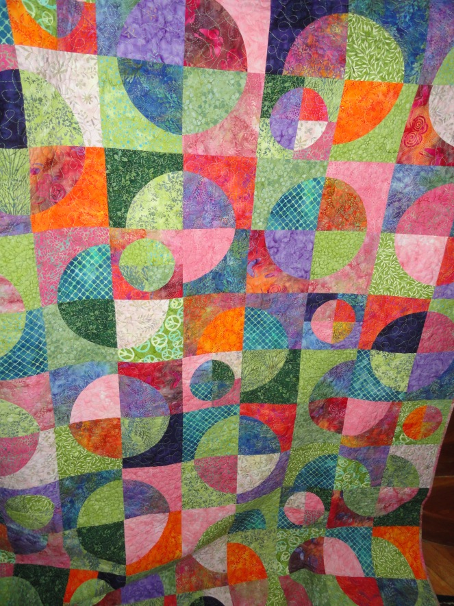 Crazy Drunken Curves quilt