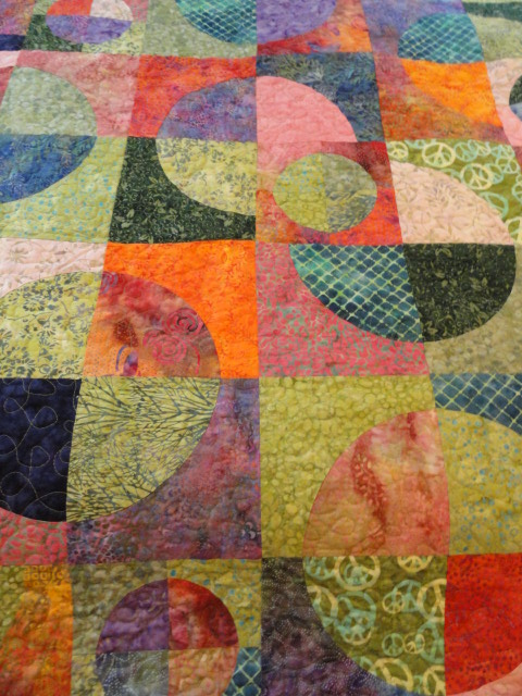 Crazy Drunken Circles quilt