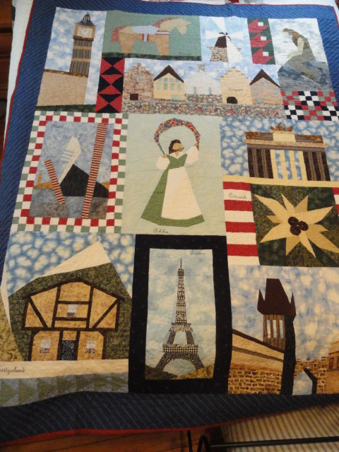 Trip Across Europe quilt
