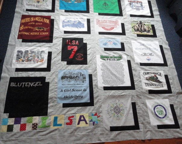 t shirt quilt with different size blocks image collections