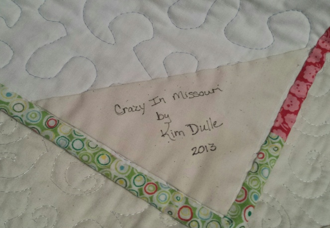 simple quilt label