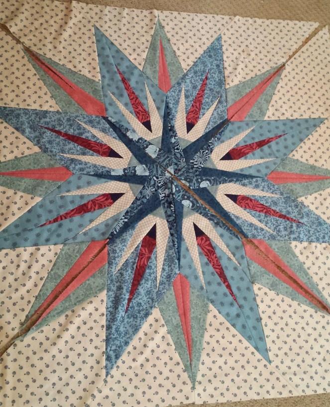 center of Antique Compass quilt